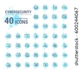 vector graphic set. icons in... | Shutterstock .eps vector #600244067