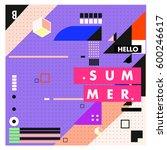 trendy vector summer cards...   Shutterstock .eps vector #600246617