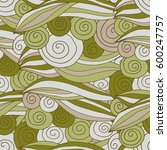 seamless pattern swirl and line | Shutterstock .eps vector #600247757