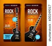 vector rock festival ticket... | Shutterstock .eps vector #600249017