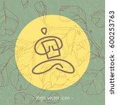 floral yoga icon  linear logo...   Shutterstock .eps vector #600253763
