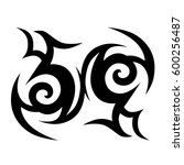 tattoo tribal vector designs... | Shutterstock .eps vector #600256487