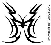 tribal designs. tribal tattoos. ... | Shutterstock .eps vector #600256643