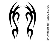 tattoo tribal vector designs.... | Shutterstock .eps vector #600256703