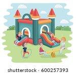 vector cartoon illustration of... | Shutterstock .eps vector #600257393