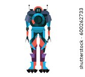 robot characters icons  with... | Shutterstock .eps vector #600262733