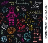 science education doodle set of ... | Shutterstock .eps vector #600265307