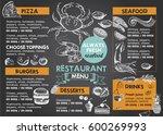 restaurant brochure vector ... | Shutterstock .eps vector #600269993