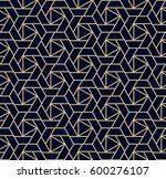 abstract geometric pattern with ... | Shutterstock .eps vector #600276107