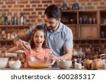 'portrait of father and... | Shutterstock . vector #600285317