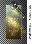 best voice microphone poster...   Shutterstock .eps vector #600288137