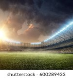 soccer playground with... | Shutterstock . vector #600289433