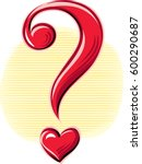question mark in the shape of... | Shutterstock .eps vector #600290687