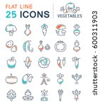 set  line icons in flat design... | Shutterstock . vector #600311903