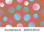 seamless pattern. halftone... | Shutterstock .eps vector #600313013