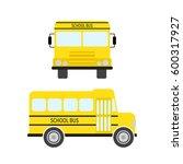 school bus in flat style....   Shutterstock .eps vector #600317927