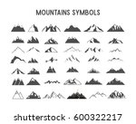 mountain shapes and elements... | Shutterstock . vector #600322217