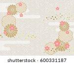 background image of japanese... | Shutterstock .eps vector #600331187