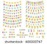 easter and spring vector... | Shutterstock .eps vector #600333767