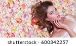 valentine's day. loving girl.... | Shutterstock . vector #600342257