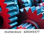gears. machine part. | Shutterstock . vector #600345377