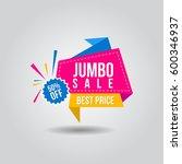 jumbo sale vector banner 50 ... | Shutterstock .eps vector #600346937