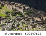 aerial view to machu picchu... | Shutterstock . vector #600347633
