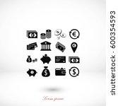 finance icons vector  flat... | Shutterstock .eps vector #600354593
