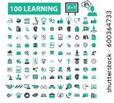 learning icons | Shutterstock .eps vector #600364733
