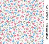 floral seamless pattern of...   Shutterstock . vector #600367193