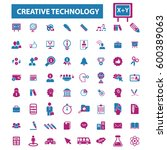 creative technology icons | Shutterstock .eps vector #600389063