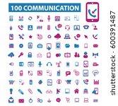 communication icons  | Shutterstock .eps vector #600391487