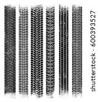 vector tire tracks. isolated... | Shutterstock .eps vector #600393527