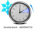 switch to winter time  concept... | Shutterstock .eps vector #600396713