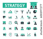 strategy icons  | Shutterstock .eps vector #600397277