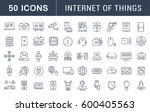 set  line icons with open path... | Shutterstock . vector #600405563