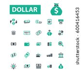 dollar icons | Shutterstock .eps vector #600416453
