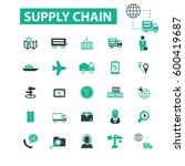 supply chain icons | Shutterstock .eps vector #600419687