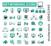 networking icons  | Shutterstock .eps vector #600421943
