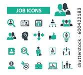 job icons  | Shutterstock .eps vector #600422183