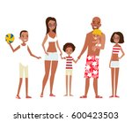 big african american family on... | Shutterstock .eps vector #600423503