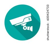 security camera circle icon... | Shutterstock .eps vector #600424733