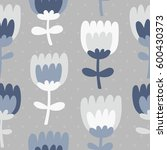 simple and fun floral pattern.... | Shutterstock .eps vector #600430373