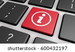info symbol and icon on a... | Shutterstock . vector #600432197