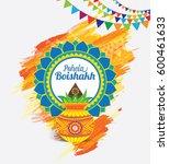 pohela boishakh template design ... | Shutterstock .eps vector #600461633