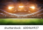 stadium in lights and flashes... | Shutterstock . vector #600464927