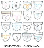 set of various pockets shapes | Shutterstock .eps vector #600470627