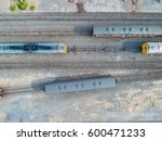 aerial view of goods train and... | Shutterstock . vector #600471233