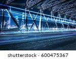 night traffic lights inside of... | Shutterstock . vector #600475367