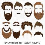 man hair  mustache and beards... | Shutterstock . vector #600478247